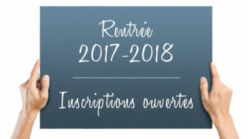 Inscriptions de Septembre 2017-2018