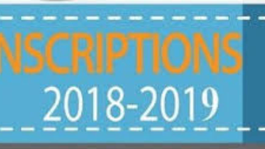 Inscriptions de Septembre 2018-2019
