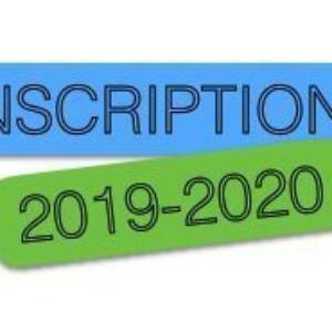 Inscriptions de Juillet 2019-2020